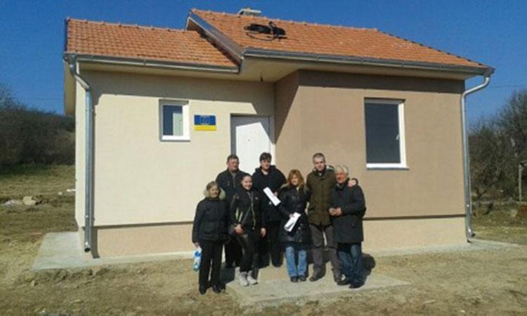 nova kuća za porodicu izbeglica u Bojniku