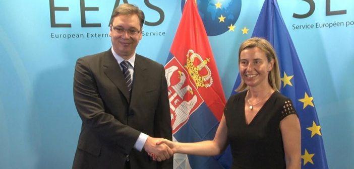 Mogerini i Vučić: značajan napredak Srbije na putu ka EU