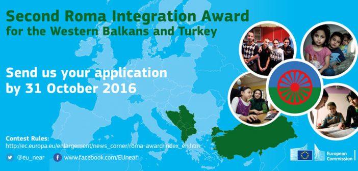 Druga Nagrada EU za integraciju Roma u zemljama Zapadnog Balkana i Turskoj