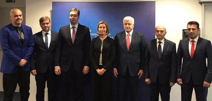 Federica Mogherini hosts an informal gathering with Prime Ministers of the Western Balkans partners