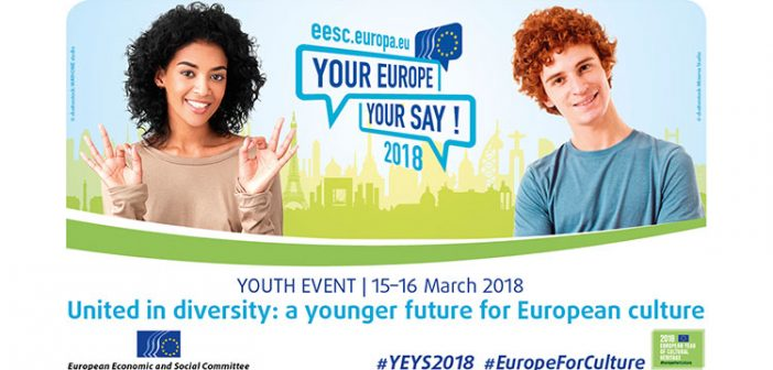 Your Europe, Your Say! 2018 – United in diversity: a younger future for European culture