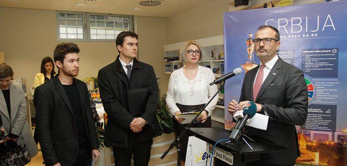 Ambassador Fabrizi's first visit to Aleksinac and Nis