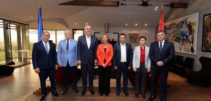 Mogerini se sastala sa premijerima Zapadnog Balkana u Skoplju