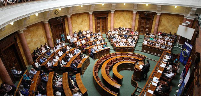 European Debate School faceoff at the National Assembly of Serbia