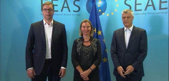 Federika Mogerini održala sastanak sa predsednicima Vučićem i Tačijem