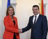 Mogerini u Skoplju: Uverena sam da ćete i nadalje biti odlučno usmereni ka reformama