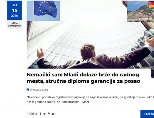 Objavljeni prvi medijski prilozi u okviru projekta Puls Evrope