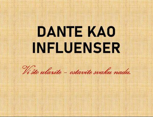 Dante kao influenser – nekada i danas