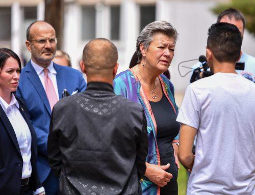 Commissioner Johansson Visits the Migrant Centre in Obrenovac