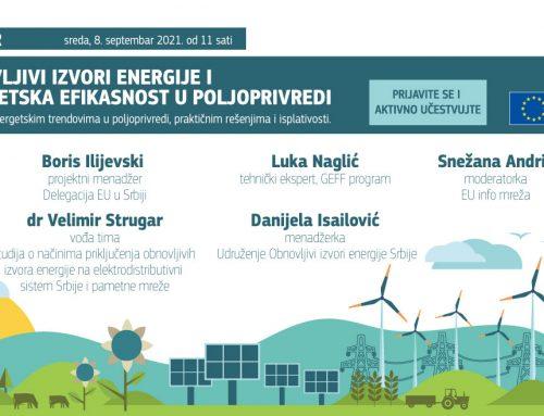 """Vebinar: """"Obnovljivi izvori energije i energetska efikasnost u poljoprivredi"""""""