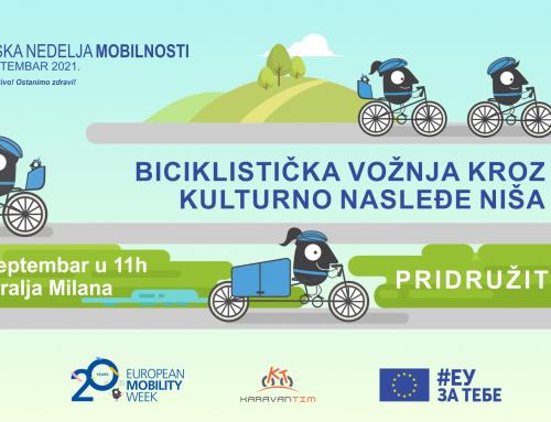 Evropska nedelja mobilnosti – Biciklistička vožnja kroz kulturno nasleđe Niša
