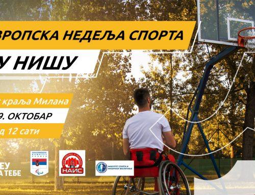 Košarka u kolicima – Evropska nedelja sporta u Nišu