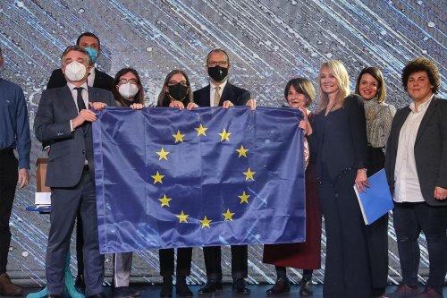 Dorcol Platz – European Flag Ceremony – 09.02.2021.