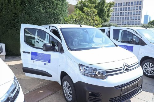 Handover event for specialized vehicles for transport of vaccines - 14.09.2021.